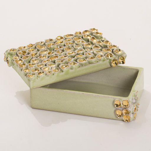Tesoro Green Maiolica Box - Decorative Art - Home Décor and Interior Design ideas from Italy's finest artisans - Artemest