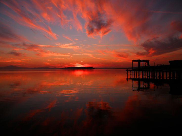 Rosso fuoco. #tramonto