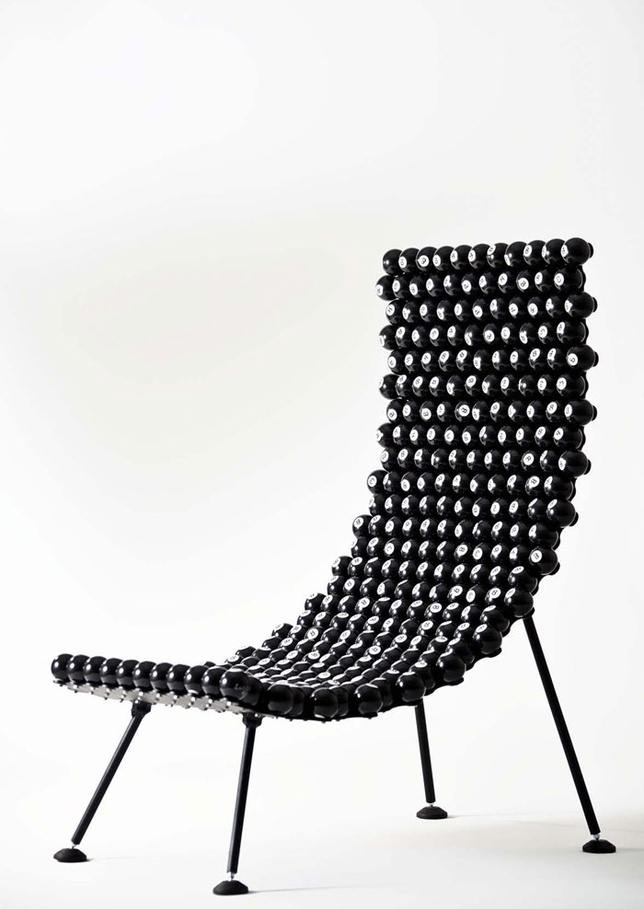 8 ball chair!: Amazing Recycled, Capote Upcycled, Leo Capote, Upcycled Furniture, Recycled Furniture, Pools Ball, 8 Ball Chairs, Furniture Design, Pools Hall