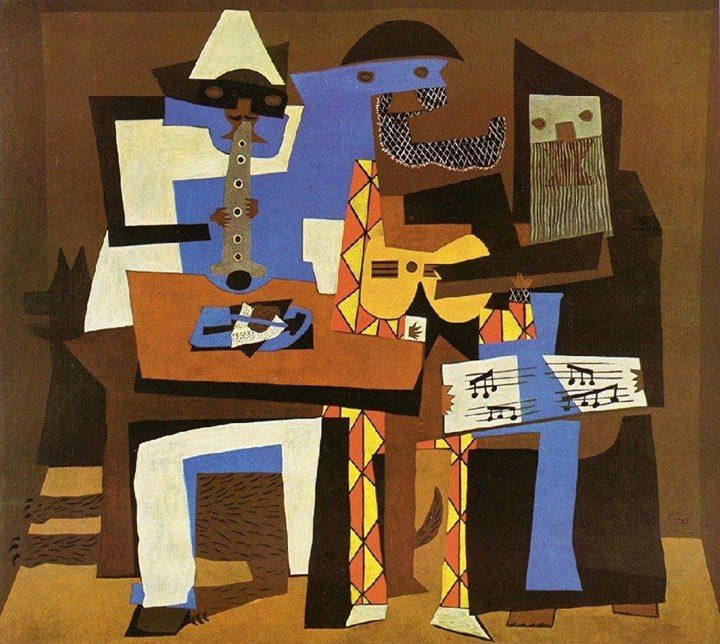 """""""Three Musicians"""" by Pablo Picasso (1921). Oil on canvas"""