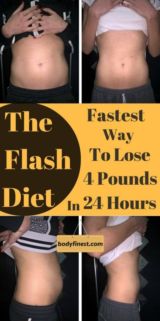 THE FLASH DIET: FASTEST WAY TO LOSE 4 POUNDS IN 24 HOURS