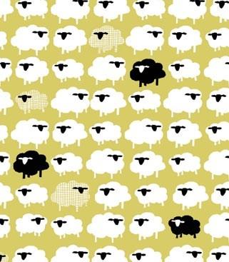 Monaluna Bah Bah Black Sheep Fabric - organic cottonBah Bah, Pattern, Fabulous Fabrics, Blacksheep, Monaluna Fabrics, Bah Black, Black Sheep, Monaluna Organic, Sheep Fabrics