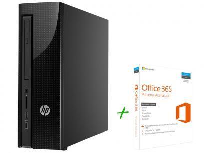 Computador HP 200 G1 Slim Tower Intel Celeron - 4GB 500GB Windows 10 + Office 365 Personal com as melhores condições você encontra no Magazine Jsantos. Confira!