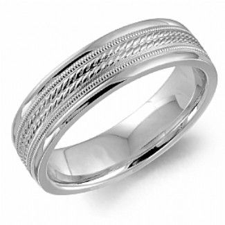 Crown Ring - Collections Wedding Bands Carved Wb 9090 M10