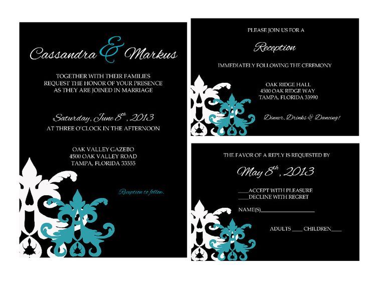 Teal Invitations Wedding: 3878 Best Teal Wedding Invitations Images On Pinterest