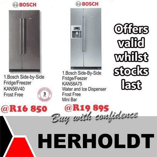 Looking for a fridge? Herholdt Group has these magnificent Bosch fridges at a reduced price. Save up to 20% on Bosch appliances this week. #savings #appliancesale #lifestyleproducts