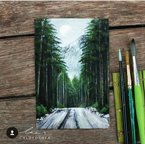 Forest Painting By Chloe O' Shea