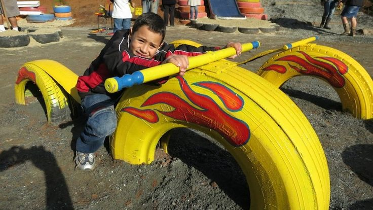 104 Best Images About Re-Using Old Tires For Playgrounds :-) On Pinterest
