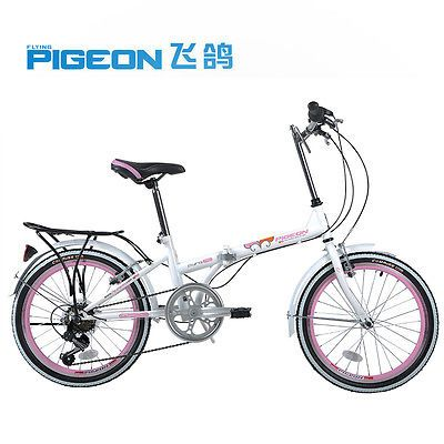 Flying-Pigeon-20-in-Folding-Carbon-Steel-Bicycle-Bike-Storage-Sports-Cycling
