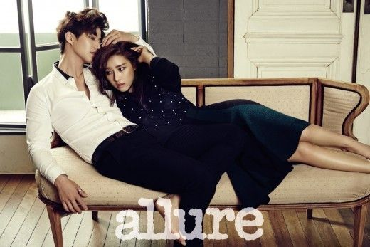 "Newly Minted ""It"" WGM Couple Kim So Eun and Song Jae Rim Cuddle Up for Allure Magazine 