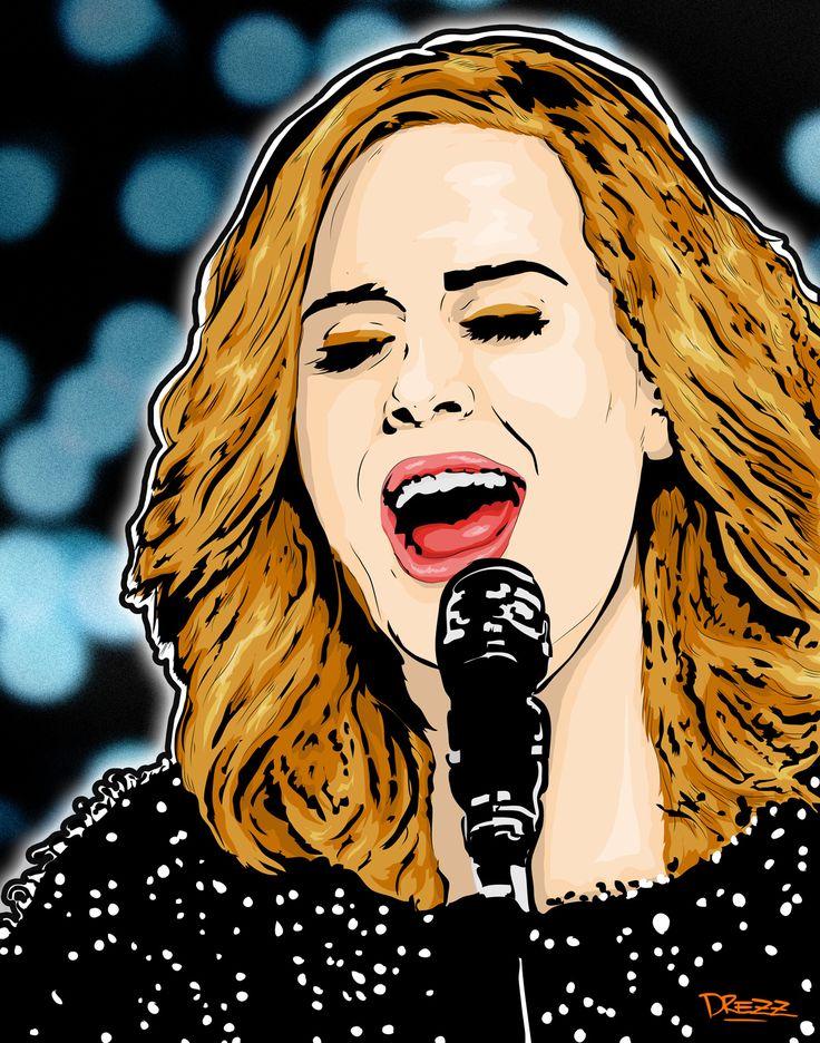 Adele  - by Drezz Rodriguez, 2017.
