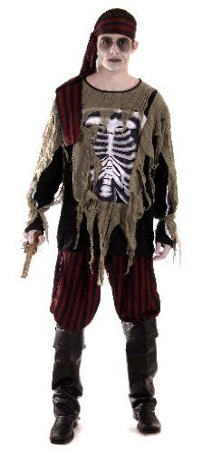 Mens Ghost Ship Zombie Dead Pirate Halloween Horror Fancy Dress Costume Outfit @ £19.99