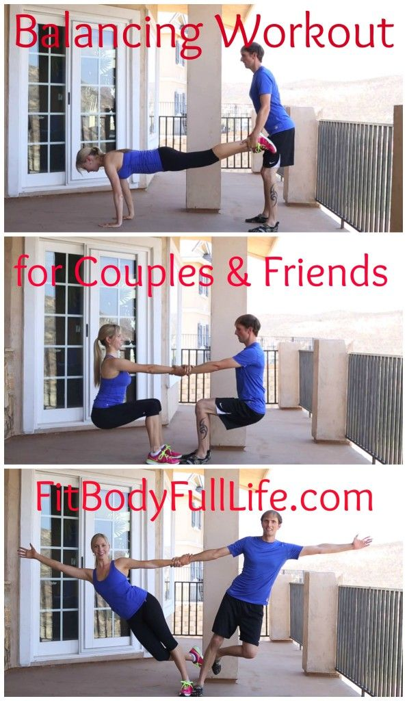 Balancing Workout for Couples & Friends from Fit Body Full Life (post includes video)