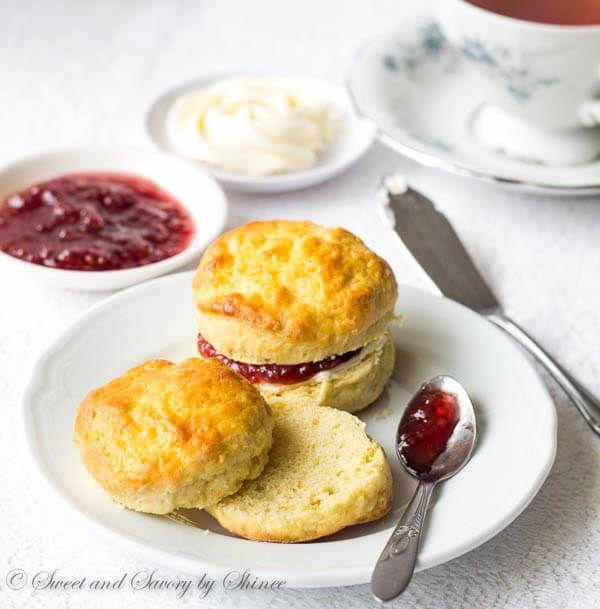 English Scones with Sweet Whipped Butter via @shineshka