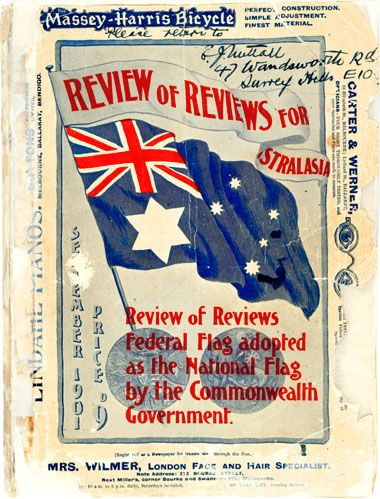 An announcement of the adoption of the Australian-designed Australian Flag by Australian authority in 1901