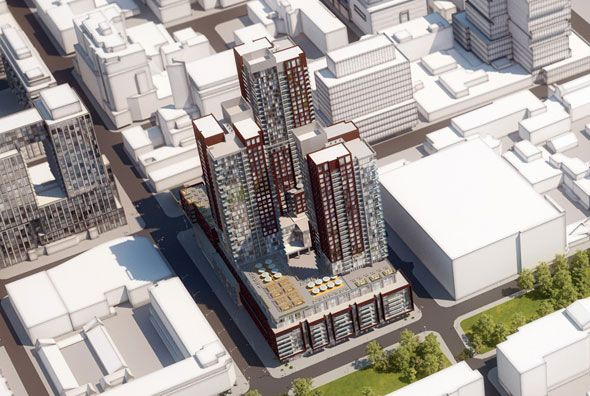 Is 34-storeys too high for Sherbourne and Front?