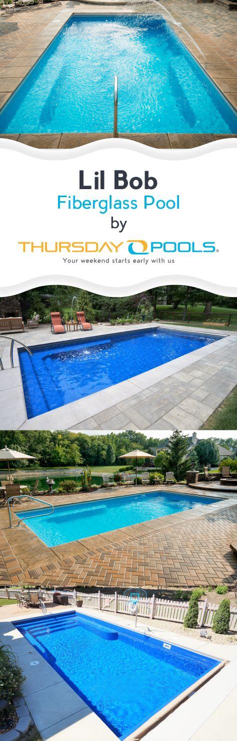 Checkout the Lil Bob Fiberglass Pool by Thursday Pools.