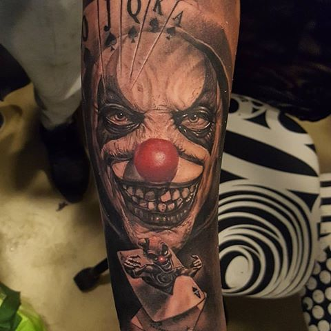 194 best scary clown tattoos images on pinterest clown tattoo rh pinterest com evil clown tattoo design evil clown tattoo meaning