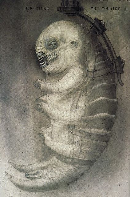 Ганс Руди Гигер: The Tourist III Hanging crab-alien