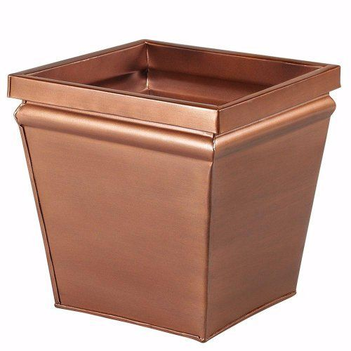 "Square Metal Planter, 12"", AGED COPPR FNSH by Home Decorators Collection, for poss. fire box~http://www.amazon.com/dp/B00AFZ4CN6/ref=cm_sw_r_pi_dp_xXkDrb0EJNCQ5"