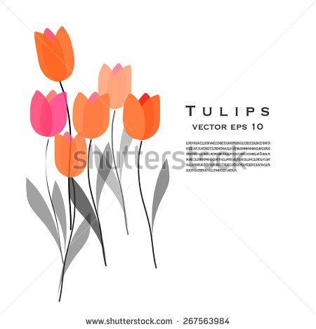 Tulips vector illustration #flower #tulip #illustration