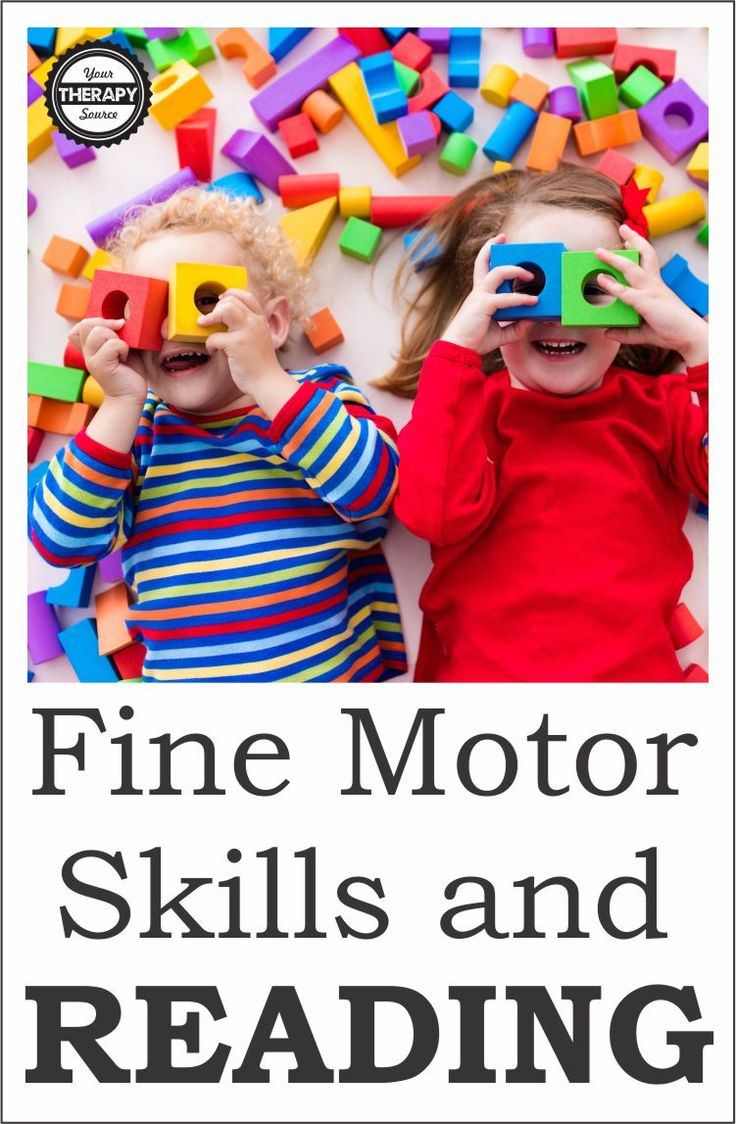 Fine Motor Skills and Reading - Prior to kindergarten, fine motor skills are important for school readiness. Research indicates that fine motor skills play a role in cognition, graphomotor and language development.
