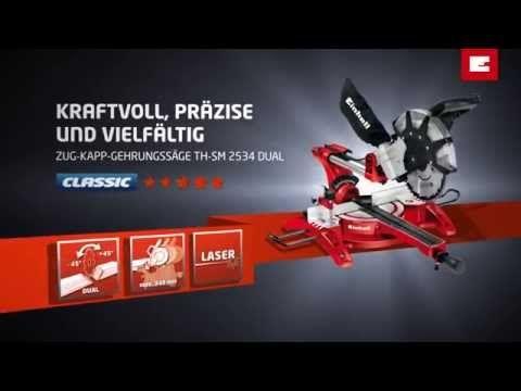 Einhell TH-SM 2534 Dual Zug-Kapp Gehrungssäge - YouTube