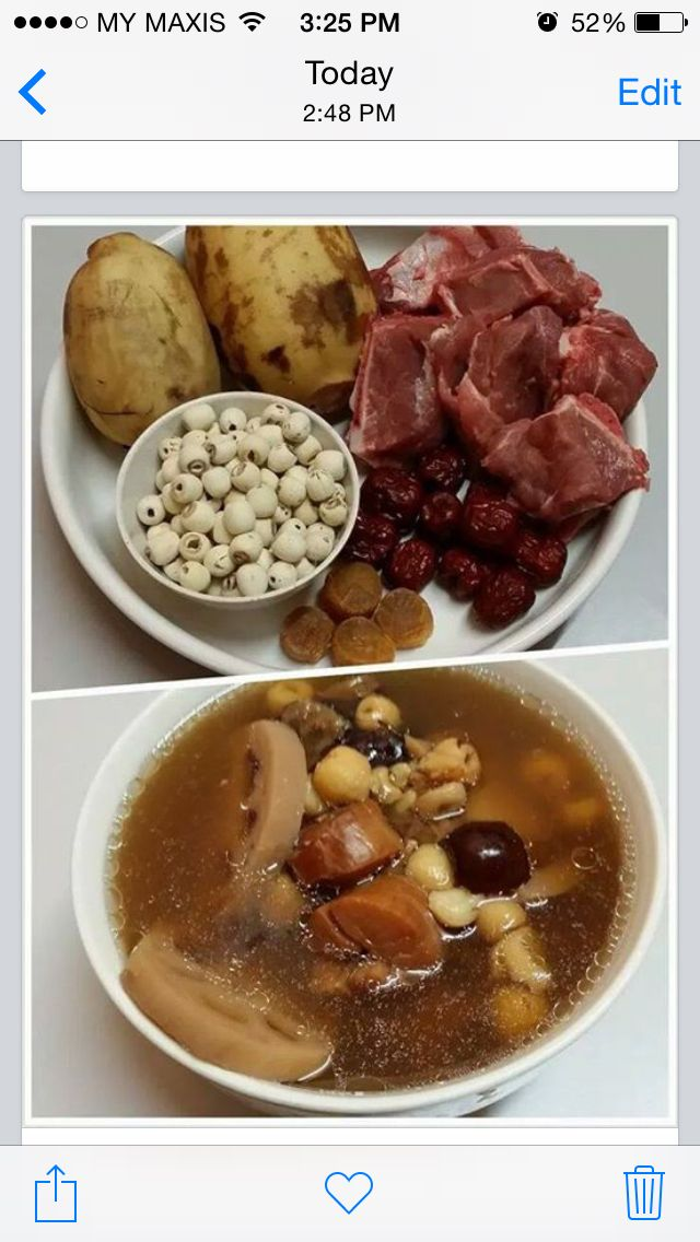 Lotus Root with Lotus Seeds & Dried Scallop Soup