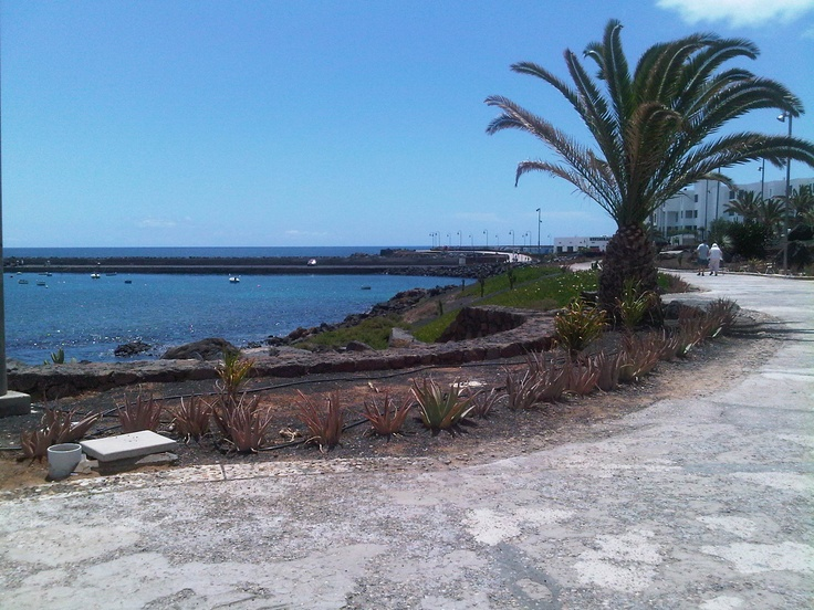Walking down the Promenade in Costa Teguise, Lanzarote