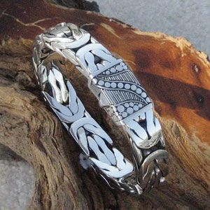 The Great Gatsby Mens Sterling Silver Bracelet  http://www.sausalitosilver.com/