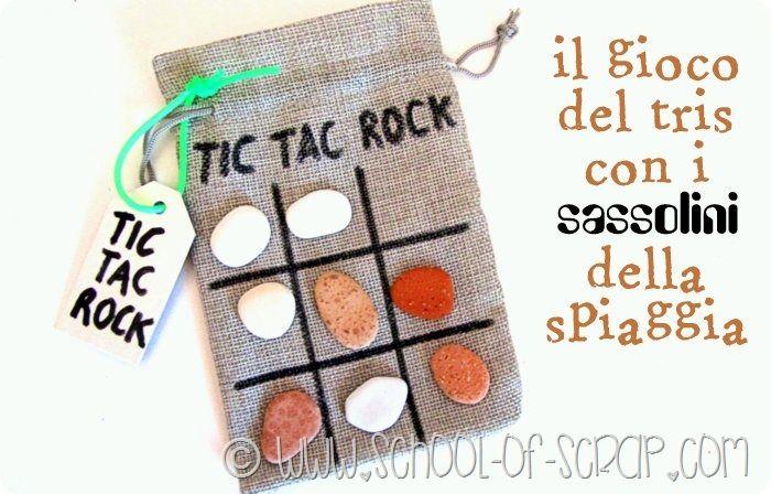 Idee con i bambini: il gioco del tris portatile con i sassolini della spiaggia - Alessia, scrap & craft...Alessia, scrap & craft…