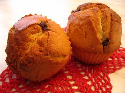 Muffins al succo d'arancia e gocce di cioccolato