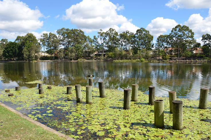 ISO 100 F8. Beautiful lake in sunny weather