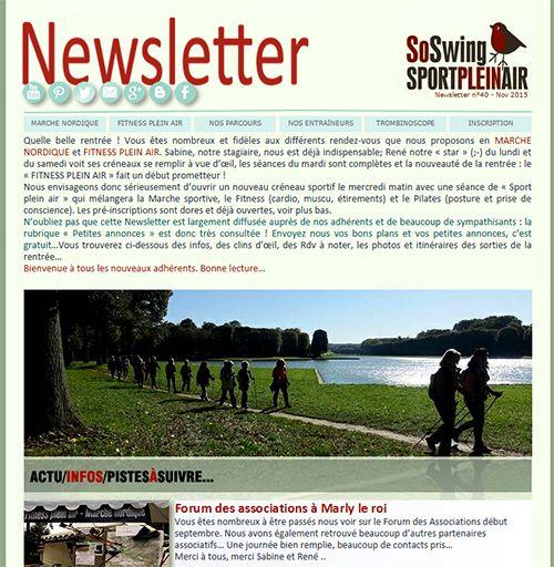 La #Newsletter permet à l'association de communiquer avec ses adhérents...