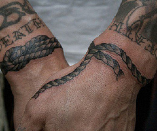 An amazing array to tattoo designs with a rope theme.