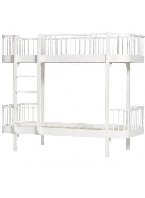 fr gemeinsames kinderzimmer oliver furniture etagenbett wood leiter lange seite wei wei mehr - Einfache Hausgemachte Etagenbetten