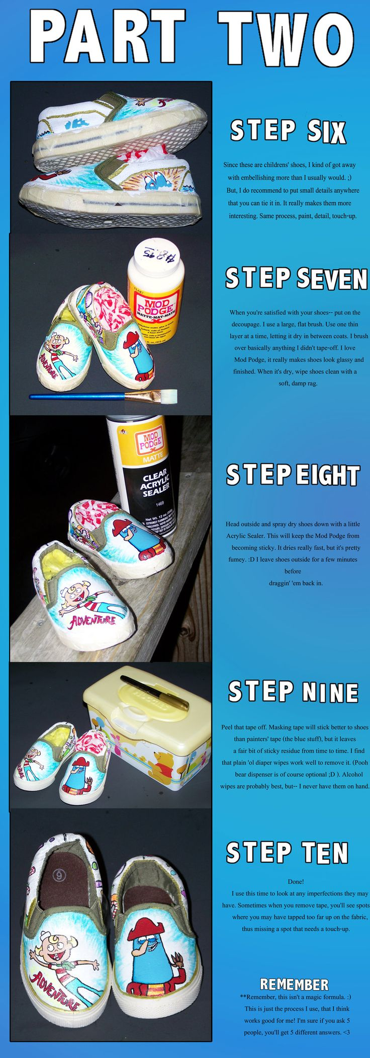 Painting Shoes Tutorial II by ChumpShoes.deviantart.com on @deviantART -part 2
