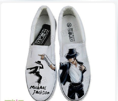 Michael Jackson shoes Hand-painted converse all star Shoes sneaker in memory of king of pop. $89.99, via Etsy.