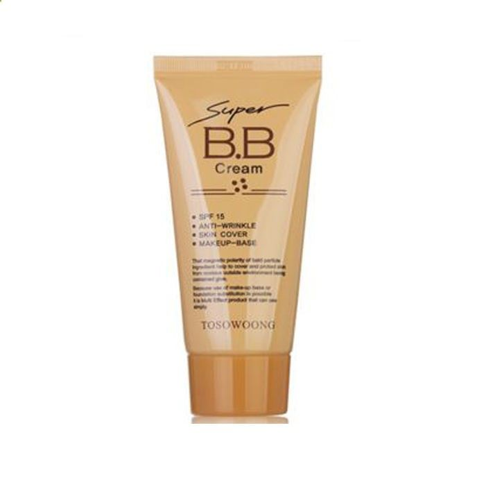 Makeup Base - Super BB Cream makeup base skin elasticity wrinkle care cover skin trouble SPF15 #TOSOWOONG - Makeup foundation is one of the basics of makeup ... it is one of the first products we learn to use and it becomes a great tool for special occasions or for girls who need to balance the skin on their face every day.