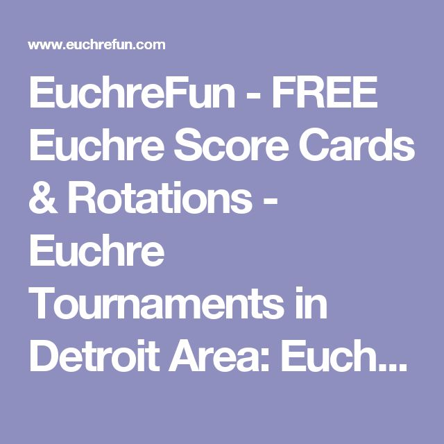 Best Euchre Printables Images On   Detroit Card Games