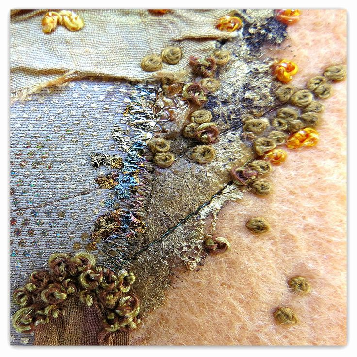 Free fabric collage tutorial CAROLYN SAXBY MIXED MEDIA TEXTILE ART