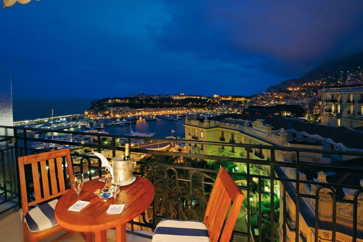 A romantic late evening view for two from the balcony of for Hotels with balconies