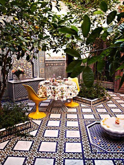 Courtyard in Marrakesh.