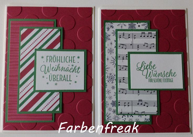 """Weihnachtskarte """"Besonderes Designerpapier für Weihnachten"""""""