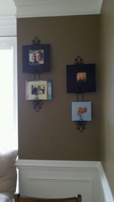 Plate hangers used to display my shutterfly books!