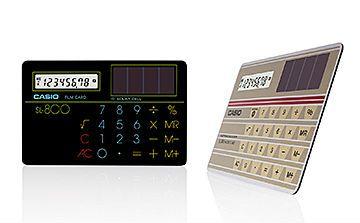 カシオのカード電卓「SL-800」が「未来技術遺産」に 厚さ0.8ミリ、83年発売