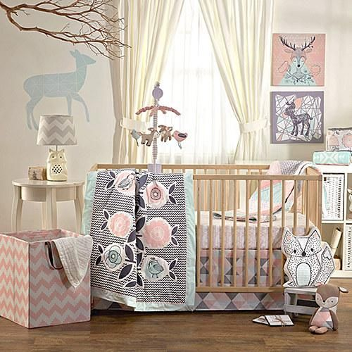 Living Textiles Baby and Lolli Living design whimsical nursery décor and bedding for babies and kids. #zulilyfinds