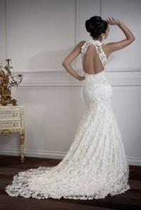 Свадебные платье с открытой спиной