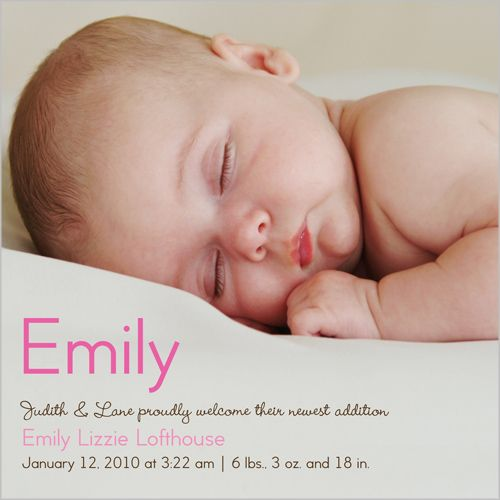 Baby Girl Name Birth Announcement