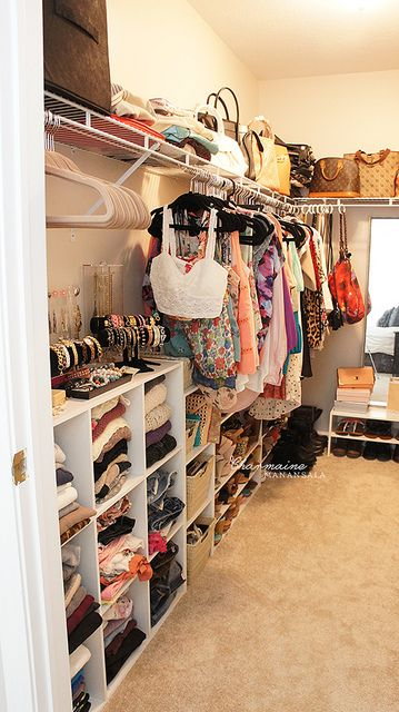 This is how you make a spare bedroom a walk in closet dressing room.